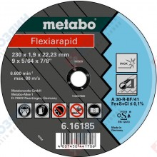 Фото диска отрезного Metabo Flexiarapid 230х1,9х22